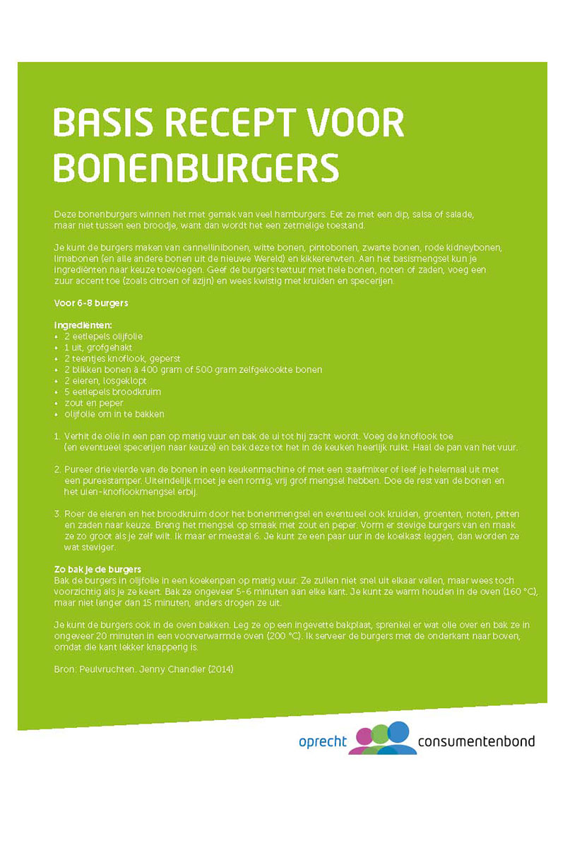 Basis recept bonenburger